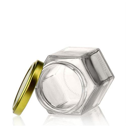 191ml hexagonale pot met Twist Off 58