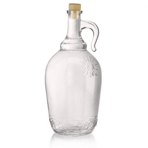 """2000ml bottiglia in vetro chiaro con manico """"Sunny"""""""