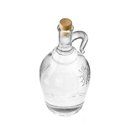 """2000ml glazen fles clear met henkel """"Sunny"""""""