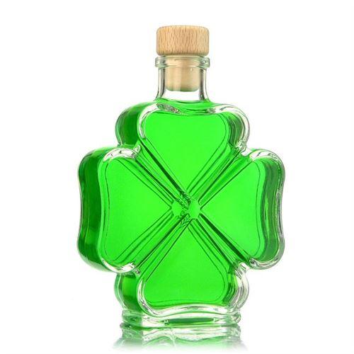 "200ml botella de vidrio ""hoja de trébol"""
