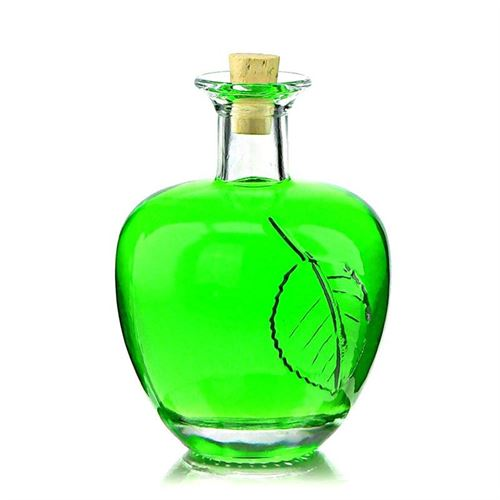 "200ml botella de vidrio transparente ""Manzana"""