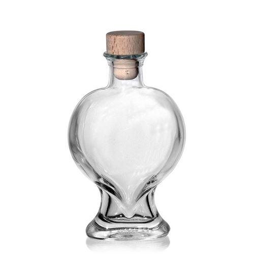"""200ml Klarglasflasche """"Herz"""""""
