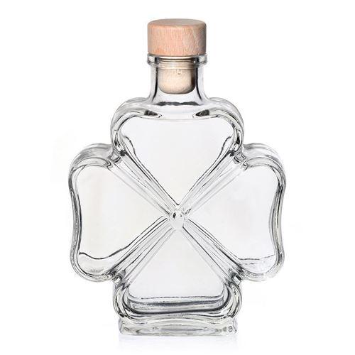 "200ml Glasflasche ""Kleeblatt"""