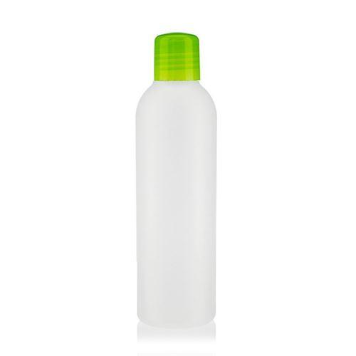 """200ml HDPE-flaske """"Tuffy"""" natur/grøn med sprøjteindsats"""