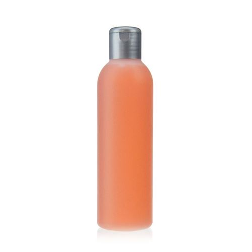 """200ml HDPE-fles """"Tuffy"""" natuur/zilver met scharnier dop"""