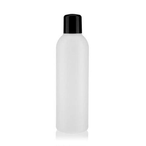"""200ml HDPE-fles """"Tuffy"""" natuur/zwart met doseerkop"""