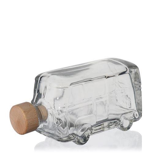 "200ml Klarglasflasche ""Bulli"""