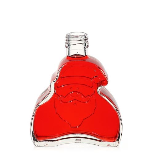"""200ml Klarglasflasche """"Santa Claus"""" mit Schraubmündung"""