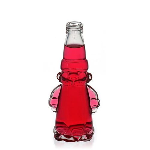 """200ml Klarglasflasche """"Weihnachtswichtel"""""""