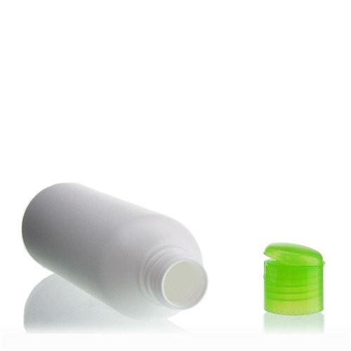 """200ml bottiglia HDPE """"Tuffy"""" verde con tappo Flip top"""