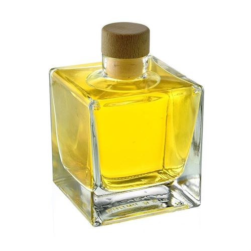 "200ml bottiglia in vetro chiaro ""Cube"""