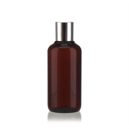 """200ml Bottiglia PET nel colore marrone """"Victor's Best"""" DiscTop, argento"""