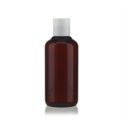 """200ml Bottiglia PET nel colore marrone """"Victor's Best"""" DiscTop, bianco"""