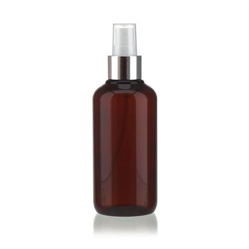 """200ml Bottiglia PET nel colore marrone """"Victor's Best"""" con erogatore spray"""