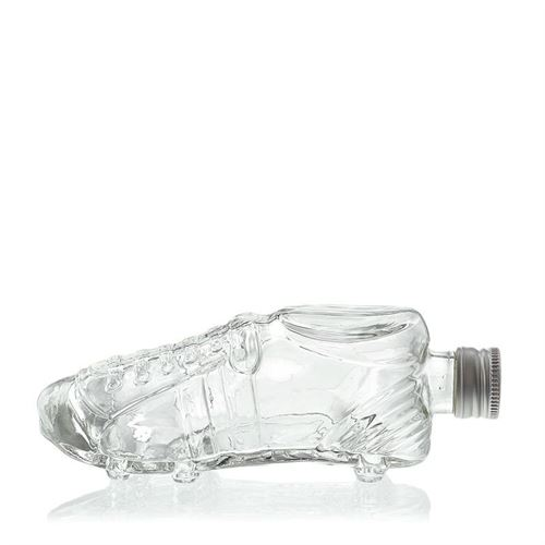 """200ml bouteille en verre clair """"Chaussure de foot"""""""