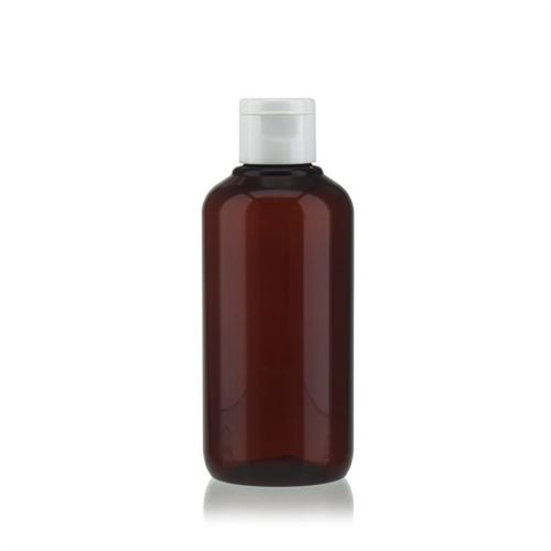 """200 ml bouteille en PET brun """"Victor's Best"""" avec couvercle à clapet, blanc"""