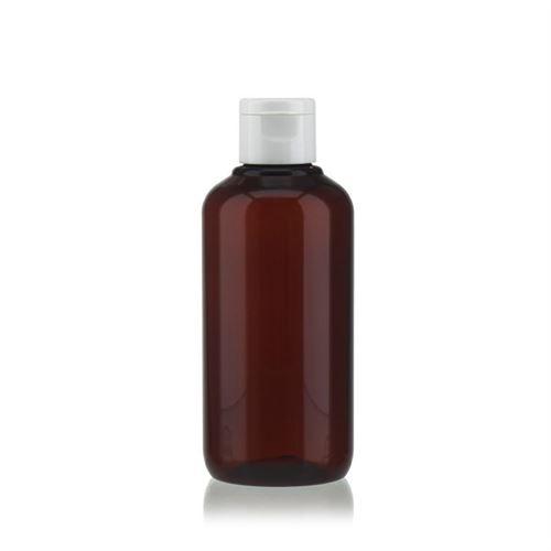 """200 ml brun PET-flaske """"Victor's Best"""", med hvidt klaplåg"""