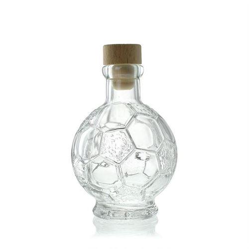 "200ml clear glass bottle ""Football"""