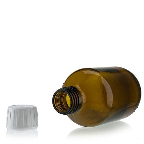 200ml flacon médecine brun avec fermeture d'originalité de 28mm