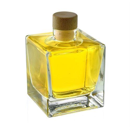"200ml flaske i klart glas ""Cube"""