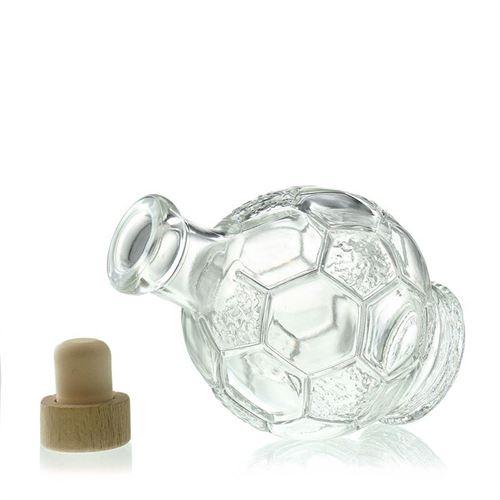 "200ml flaske i klart glas ""Fodbold"""