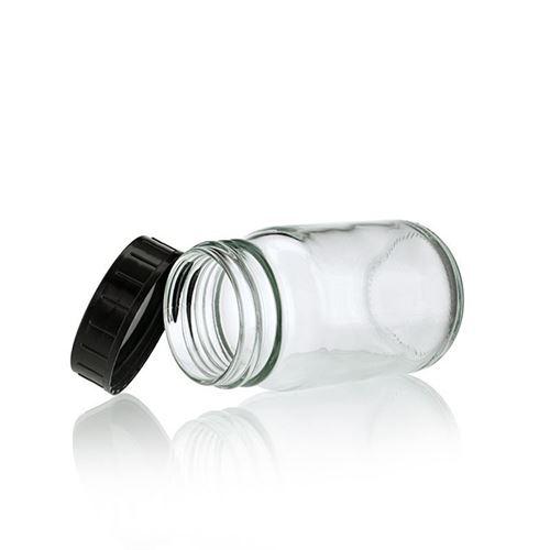 200ml transparent glas, med bred hals