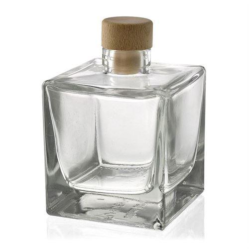 "200ml glazen fles clear ""Cube"""