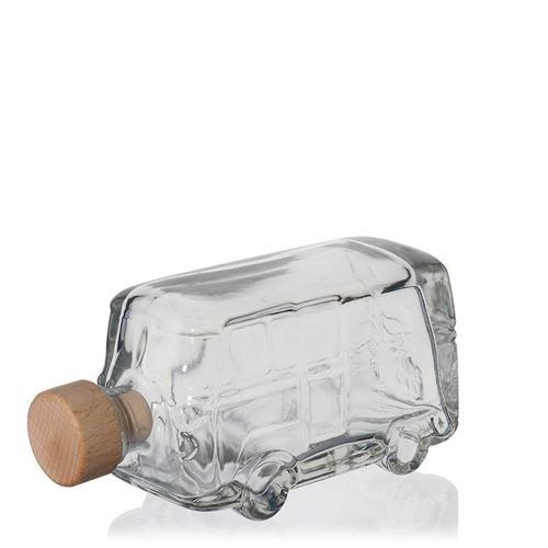 "200ml glazen fles clear ""Spijlbus"""