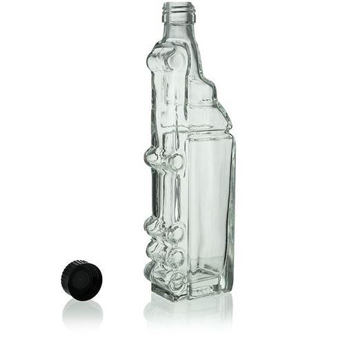 "200ml glazen fles clear ""Truck"""