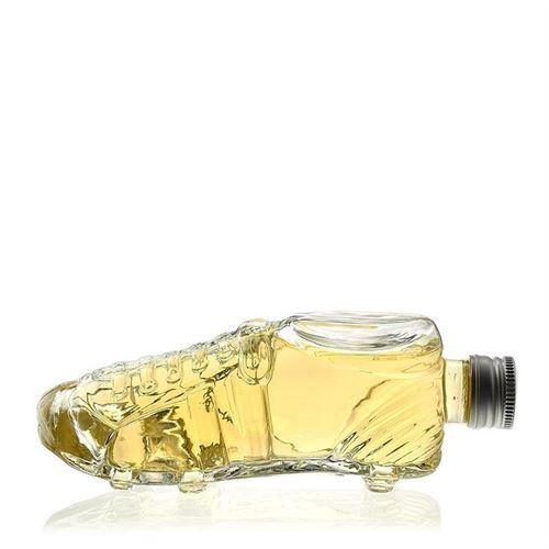 "200ml glazen fles clear ""Voetbalschoen"""