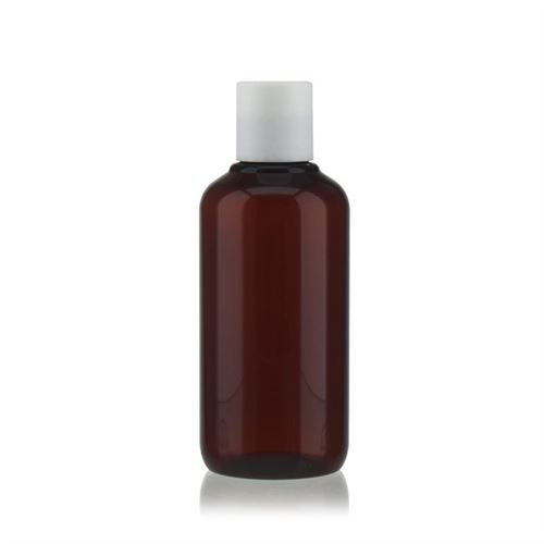 """200 ml brun PET-flaske """"Victor's Best"""", med hvidt DiscTop"""