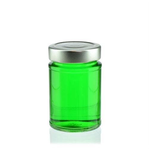 """200ml rund designburk i kraftigt glas """"Summertime"""""""