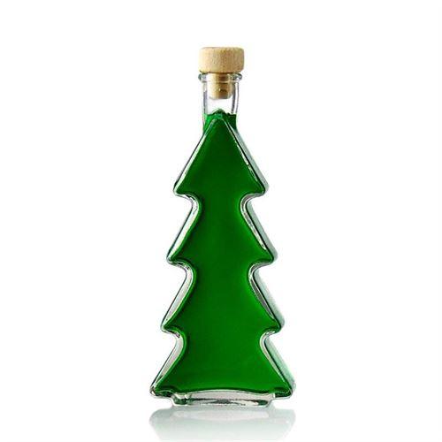 """350ml Bottiglia in vetro chiaro """"Albero di Natale"""""""