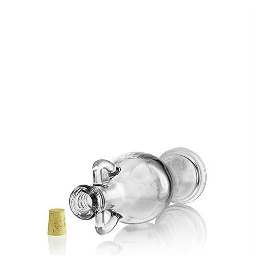 "200ml Bottiglia in vetro chiaro ""Anfora"""