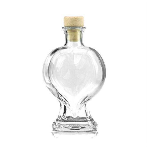 """200ml Bottiglia in vetro chiaro """"Cuore"""""""