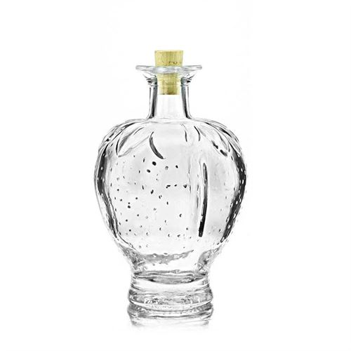 """200ml Bottiglia in vetro chiaro """"Fragola"""""""