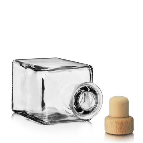 "200ml Bottiglia in vetro chiaro ""Kubica"""