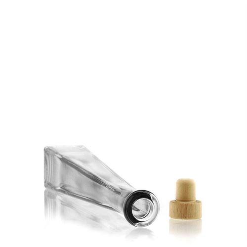 """200ml Bottiglia in vetro chiaro """"Quadrato"""""""