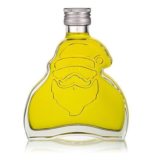 """200ml Bottiglia in vetro chiaro """"Santa Claus"""" tappo a vite"""