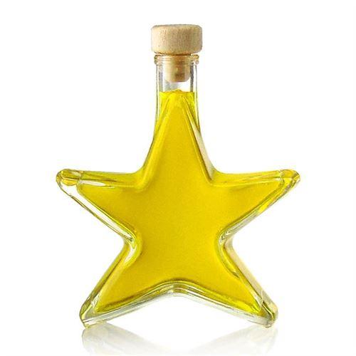 """200ml Bottiglia in vetro chiaro """"Stella"""""""