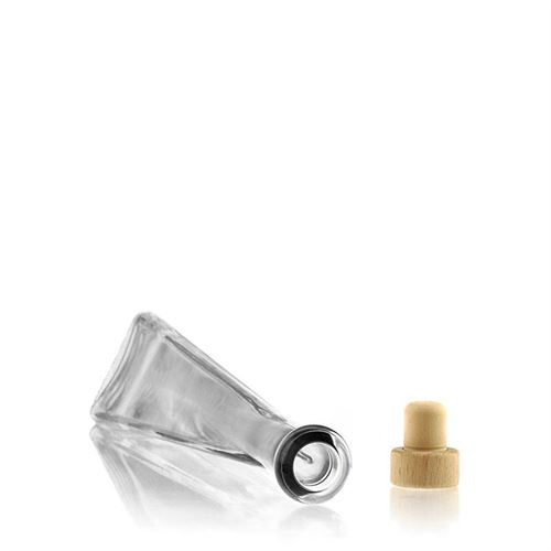 "200ml Klarglasflasche ""Triangolore"""