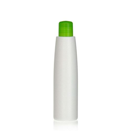"200ml HDPE bottle ""Donald"" green with dispensing tip"