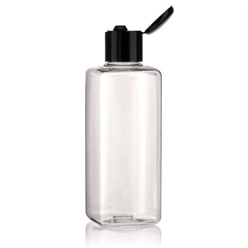 "200ml PET bottle ""Carl"" with black flip top closure"