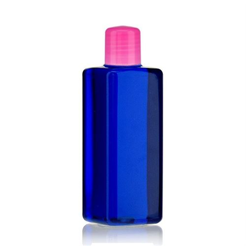 "200ml PET bottle ""Carl"" pink with dispensing tip"