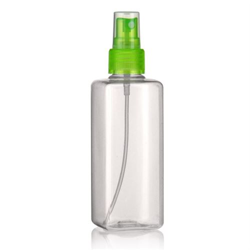 """200ml PET-flaske """"Karl"""" grøn med sprayhoved"""
