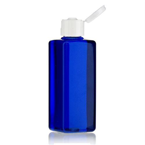 """200ml PET-flaske """"Karl"""" hvid, med klaplåg"""