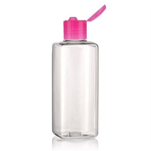 "200ml PET-flaske ""Karl"" lyserød, med klaplåg"