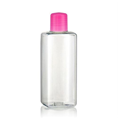 """200ml PET-flaske """"Karl"""" lyserød med sprøjteindsats"""