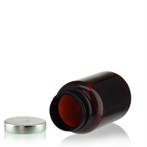 200ml PET-packer, brun med aluminiumsskruelåg
