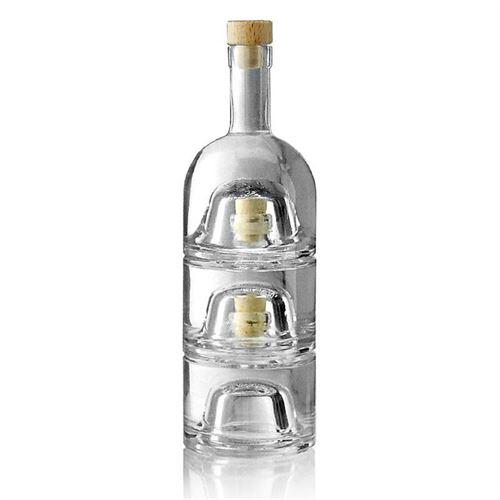 """200ml Set di Bottiglie impilabili """"Trio"""""""